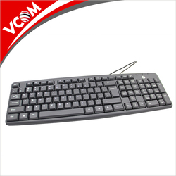 VCOM Multimedia Wired Computer Keyboard Wholesale Price