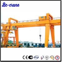 traveling mobile safe control rubber tyre mounted gantry crane