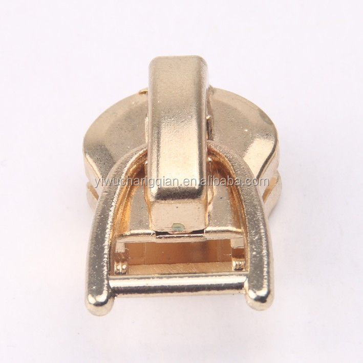 Auto Lock Plating Type Apparel Zipper Sliders With Woven Puller