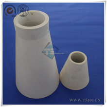 Refractory High Al2O3 Alumina Ceramic Cone-shaped Tube Used In Industrial Casting China Supplier