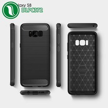 brushed fabric phone covers for samsung s8 carbon fiber cell phone case for s8 plus