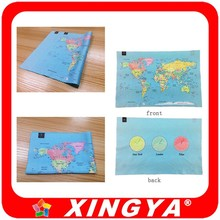 imprinted on both sides world map cleaning wipe for consulting company