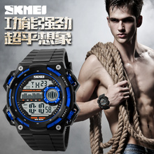 Large Dial Black Color Cheap Price Men Digital Sports Watch,2015 oem wrist watches 1115