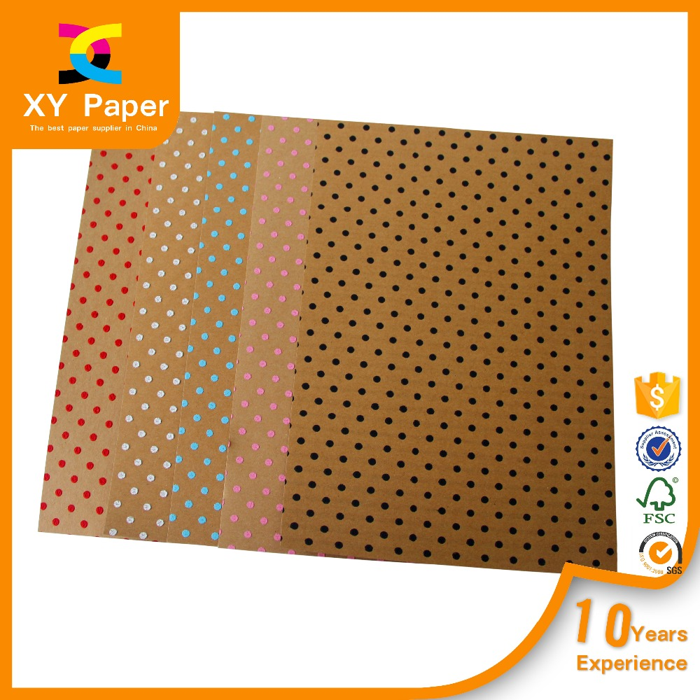 2016 Newest design with good quality dot pattern flock paper,self-adhesive flock paper