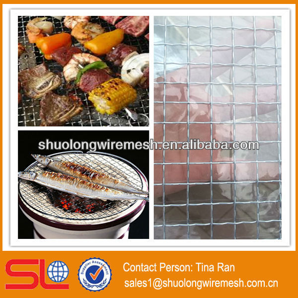 One time use iron bbq grill mesh/bbq mesh grill(Hebei Factory)