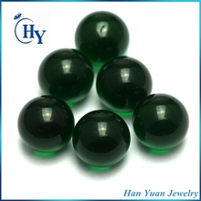 Round 8mm 10mm 12mm emerald green glass gemstone bead