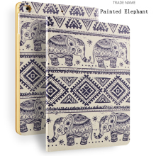 For iPad Air stand Leather Case, Baby Elephant Customized Tablet Case Cover for iPad Air1/ Air2