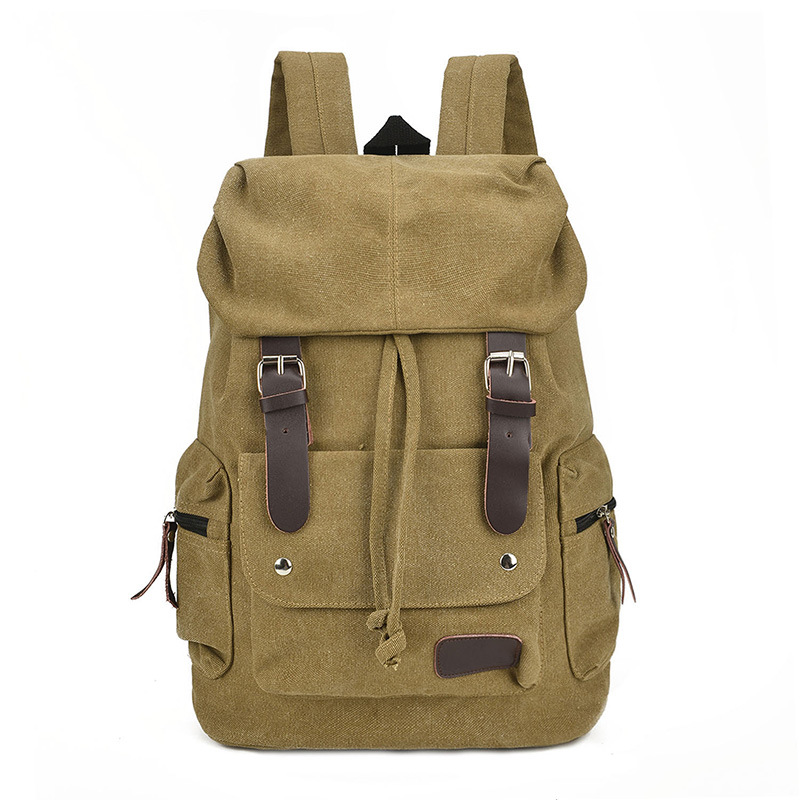 Hot sale mens large capacity vintage canvas backpack wholesale