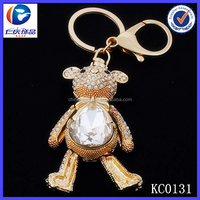 3D popular key chain Exquisite bear shaped clear acrylic keychain