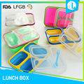 Custom microwaveable silicone FDA childrens bento box