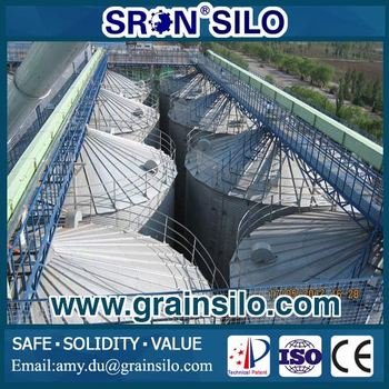 Safety & Firm Grain 5000 Ton Wheat Silo with Concrete Foundation Design