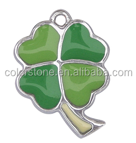 Four Leaf Clover pendant Hot sale promational four leaf clover pendant Fashion green four leaf clover pendant