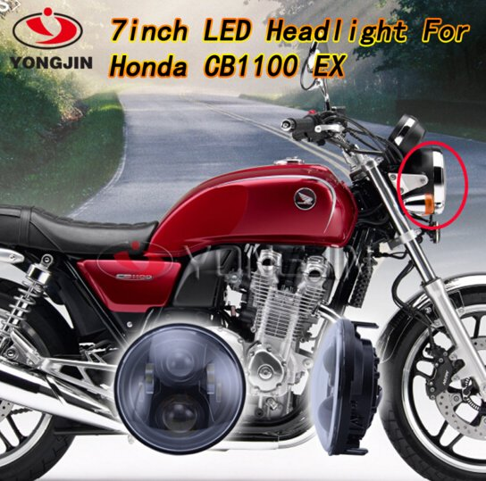 7 Inch Motorcycle LED DRL Projector Headlights With Angel Light for Honda