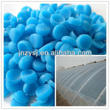 Agricultural plastic tunnel film ageing resistance masterbatch and fog killer masterbatch