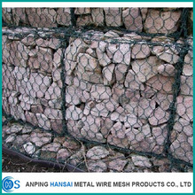 Anping factory High quality Hexagonal wire mesh galvanized gabion basket wire mesh box .