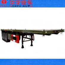 3 axle flatbed semi trailer for 40ft container transport