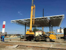 Steel structure building materials gas station construction