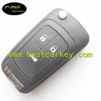 Good Price car key cover for 3 buttons car flip key shell car key remote covers flip case cover