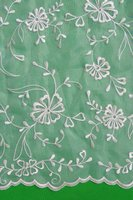 Bridal Occasion Embroidery Organza Fabric Lace