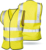 High quality 100%polyester tricot fabric reflective vest with pocket with hook  loop  closure safety products With Certificate