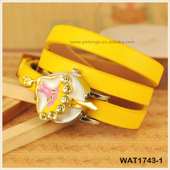New Ballerina Design Alloy Accessory Fashion Wrap Watch Long Leather Belt Good Jewerly Watch