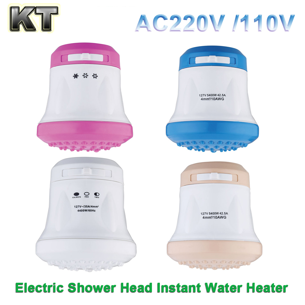 220V 110V Electric Shower Head Tankless Water Heater Instant Shower Heater