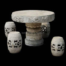 hand-carving natural marble stone chairs