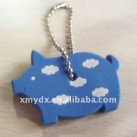 Lovely Pig shape PVC Keyring