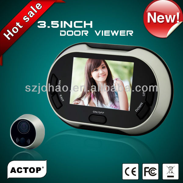 Hot selling 3.5inch color screen digital peephole viewer door bell fuction