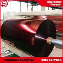 Silicone coated red plastic pet release film roll with customer order