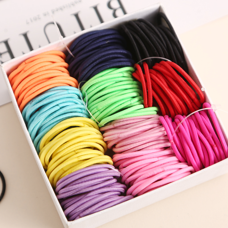 100pcs/lot 3CM Cute Girl Ponytail <strong>Hair</strong> Holder Thin Elastic Cute Rubber Band <strong>Hair</strong> <strong>Accessories</strong> For Kids Colorful <strong>Hair</strong> Ties