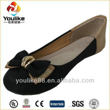 YL6518 butterfly metal ladies flat designer shoes