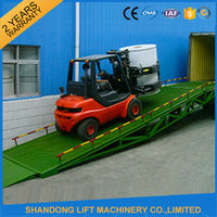 CE portable truck loading ramp mobile hydraulic container dock loading ramp for forklift