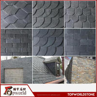 black slate tiles slate clay roof tiles natural Slate roofing tiles