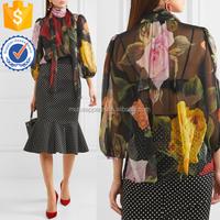 Floral Printing Silk Chiffon Blouse Women Apparel Wholesaler Garment Clothing