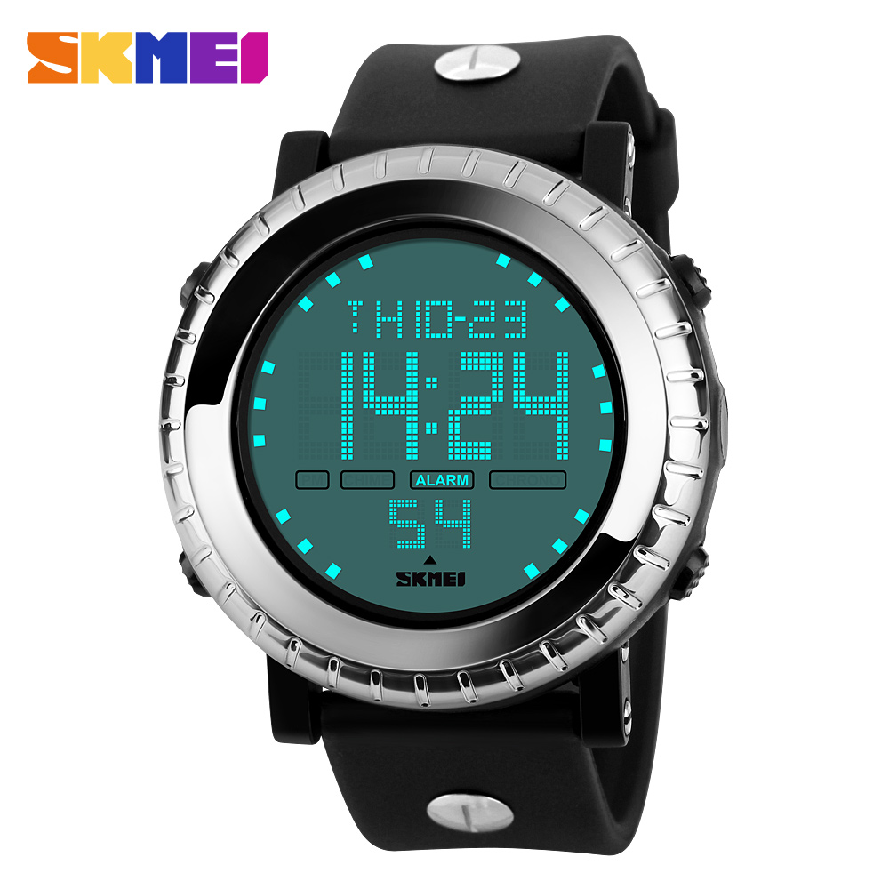 Vogue digital rubber watch men 30M waterproof #1172