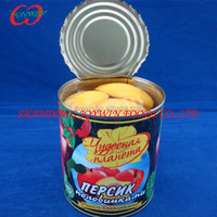 Canned fruit, Canned peaches manufacturer, canned yellow peach halves in syrup