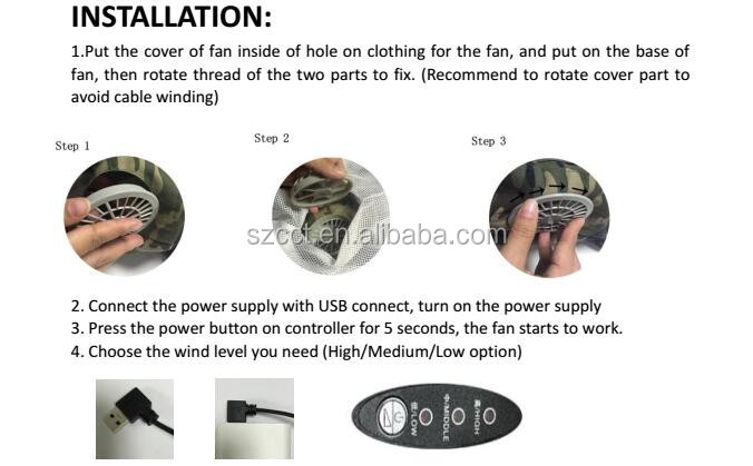 Summer cooling fan air conditioning outdoor fishing under charge movement quick-drying is prevented bask