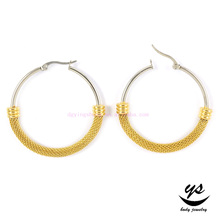 2016 Hot sale stainless steel hoop earring body jewelry piercing gold fashion earring for women