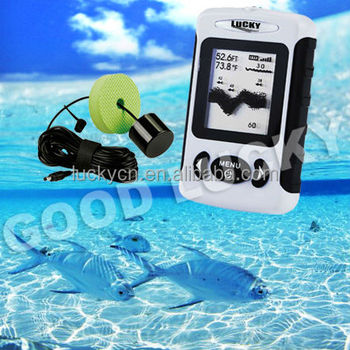 Portable Dot Matrix Fish Finder Transducer with 7.5m cable