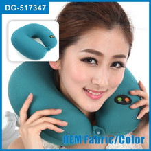 6-Mode Comfort Roll Head U Shape Vibrating Neck Soft Massage Travel TV Pillow