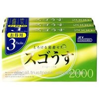 Japan latex condom ' Sugo Usu 2000 ' --- inside top jelly-filled condom --- 12 x 3p
