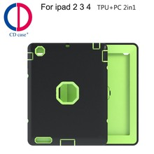 New TPU+PC hybrid shockproof case for tablet case for ipad 2