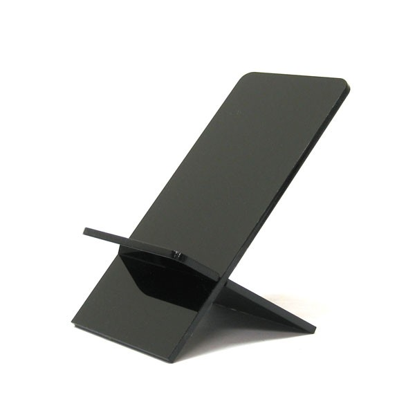 Black Acrylic Display Stand Plexiglass Lucite Phone Display Holder for Apple iPhone or iPod Touch