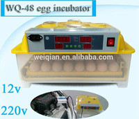 Hot sale 12v/220v 48 egg incubator/cheap egg incubator for sale