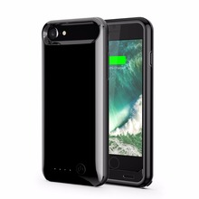 MFI portable ultra slim 3100mAh external backup UV Battery Power Case for iPhone 6/6s/7 with protect bumper ,OEM provided