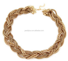 Brand fashion magazine contracted twist braid short necklace