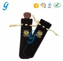 Wholesale embroidery logo drawstring velvet wine Pouches bottle gift Bags