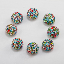 New colorful shamballa beads crystal pave bead in bulk wholesales