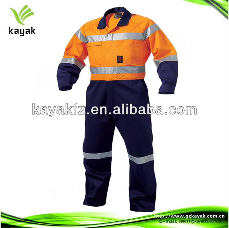 cotton long sleeve overall reflective jumpsuit Coal Mine Workwear
